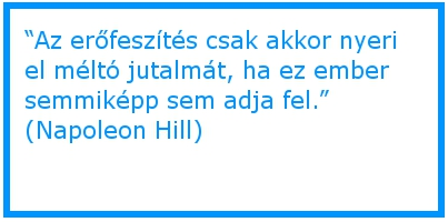 Napoleon Hill és az erőfeszítés