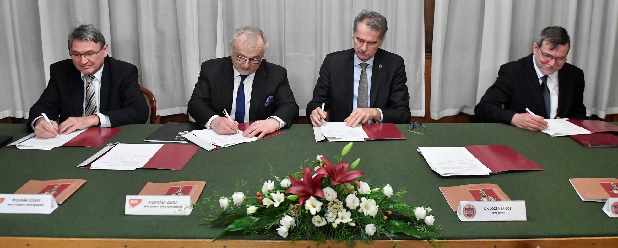 Stratégiai megállapodást kötött a BME és a Mol