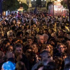 A CEU mellett tüntettek Budapesten